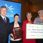 Tina Allen receives the Massage Therapy Foundation/Performance Health Humanitarian Award