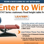 Win a chiropractic table from Leander Health and Chiropractic Economics