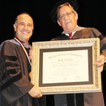 Sherman College presents Miguel Hastings with honorary doctor of chiropractic humanities degree