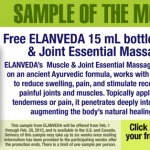 ELANVEDA offers free muscle and joint formula sample