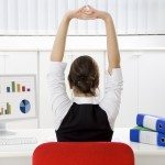 Stand up for your spine with desk yoga