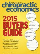 Chiropractic Economics 2015 Buyers Guide
