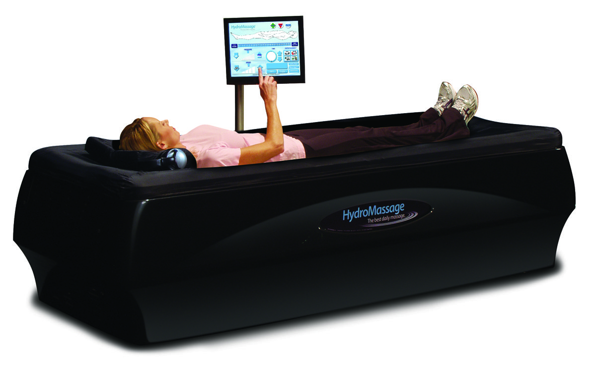 Dry hydrotherapy tables are currently the hot new treatment for a wide range of injuries – with a heating element to warm-up muscles for assisted adjustments