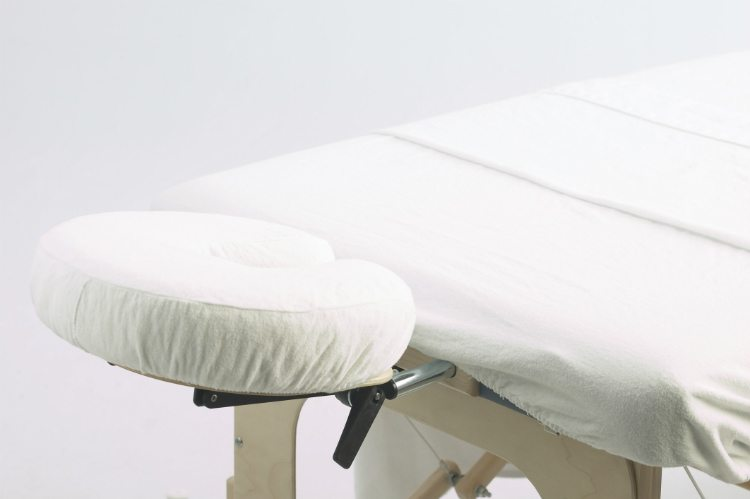 cloth covered chiropractic table