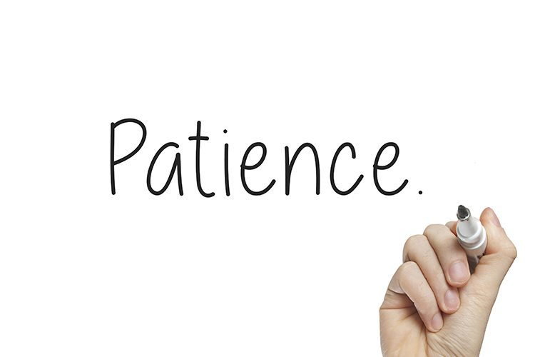 Patience helps you become a more effective chiropractor.