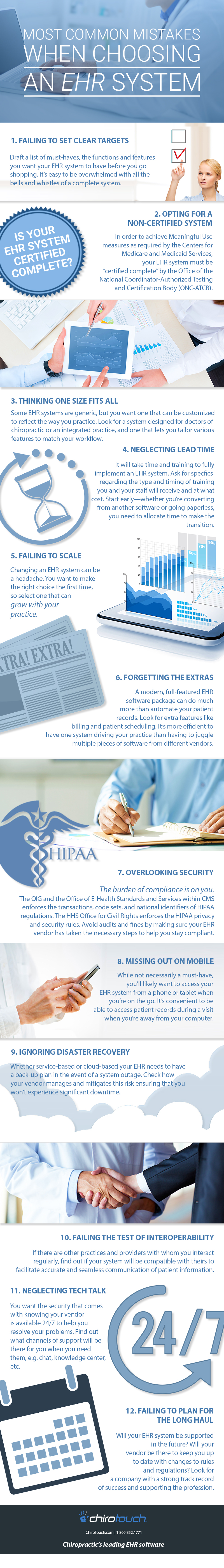 Don't make these common mistakes when choosing a chiropractic EHR system