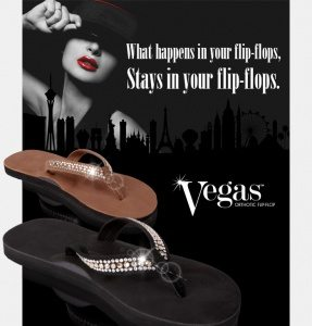 Meet Foot Levelers new custom orthotic flip-flops, Vegas