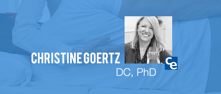 Welcome to The Future Adjustment a podcast series on what's new and notable in the world of chiropractic and our guest today is Dr. Christine Goertz.