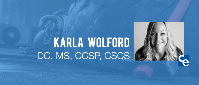 "Welcome to ""The Future Adjustment Chiropractic Economics"" podcast series, our guest today is Karla Wolford, owner of EHP Crossfit."