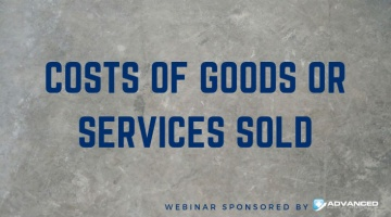 Costs of Goods or Services Sold