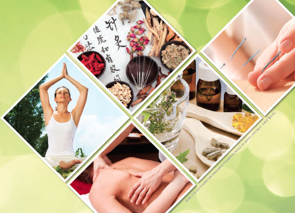 Images of some of the alternative therapies avaliable to chiropractors