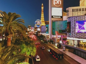 The Las Vegas strip, location of the chiropractic seminar Parker Las Vegas