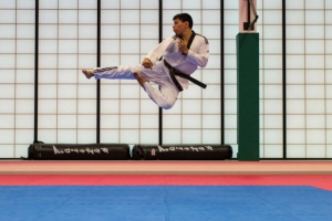 A martial arts athlete who needs martial arts chiropractic care