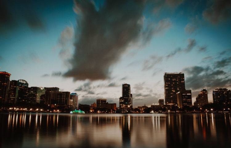 A view of downtown Orlando, the site of The National by FCA