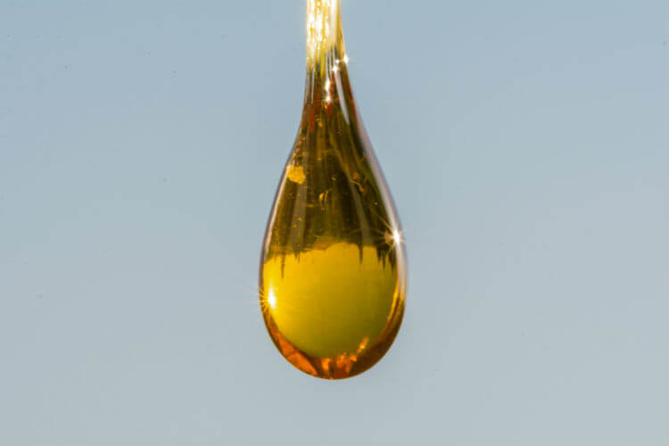 A drop from hemp seed oil supplements