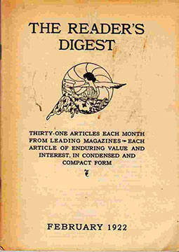 Reader's Digest began publication