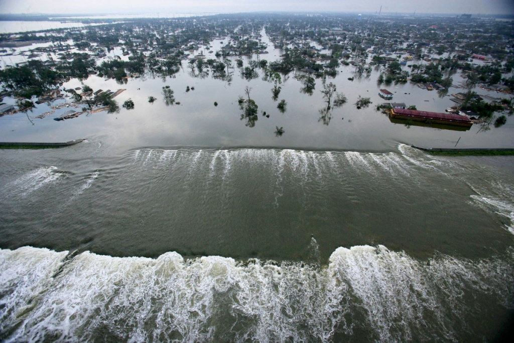 Hurricane Katrina wreaks havoc along the U.S. Gulf Coast