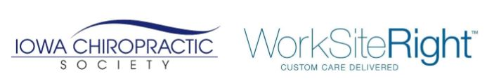 Iowa Chiropractic Society and WorkSiteRight logos