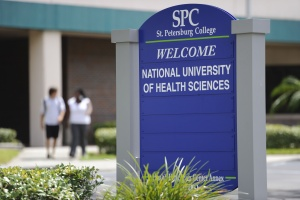 St. Petersburg College/National University of Health Sciences sign