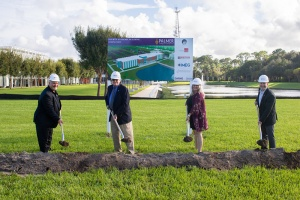 Ground-breaking ceremony for Palmer College's new building