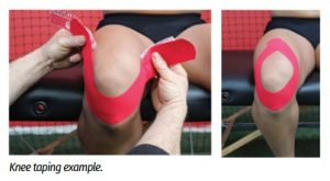 The best kinesiology tape applications can help patients with preventing sports injuries and increasing athletic performance