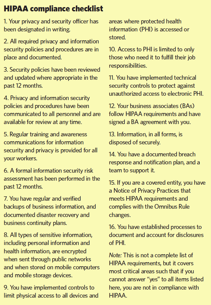 CE07_Feature_Sidebar1_HIPAA Comp checklist