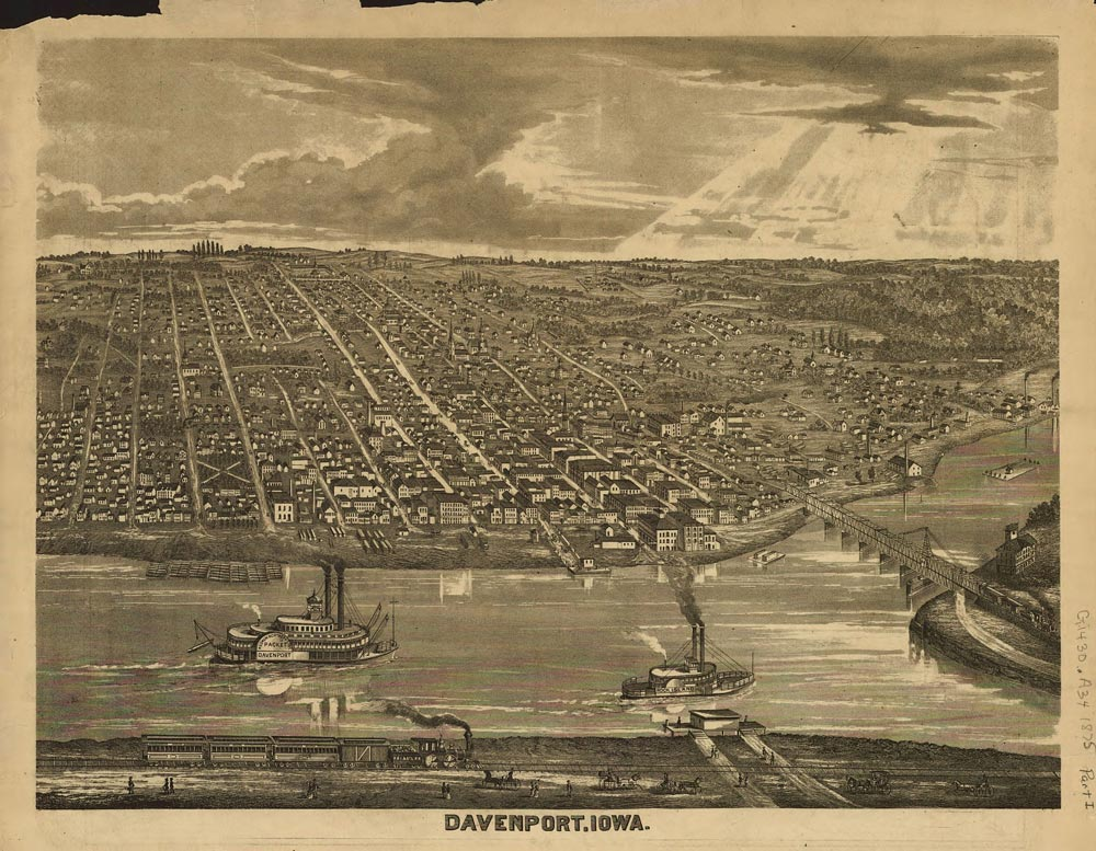 Davenport, Iowa. Late 1800s.