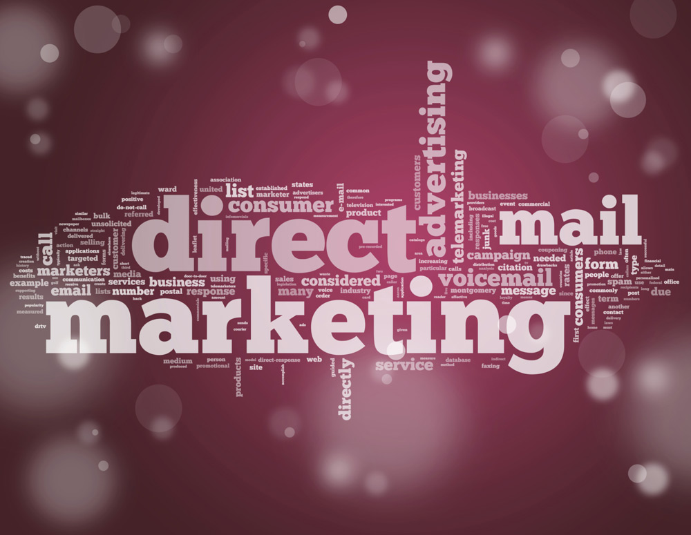 "the words ""direct mail marketing"""