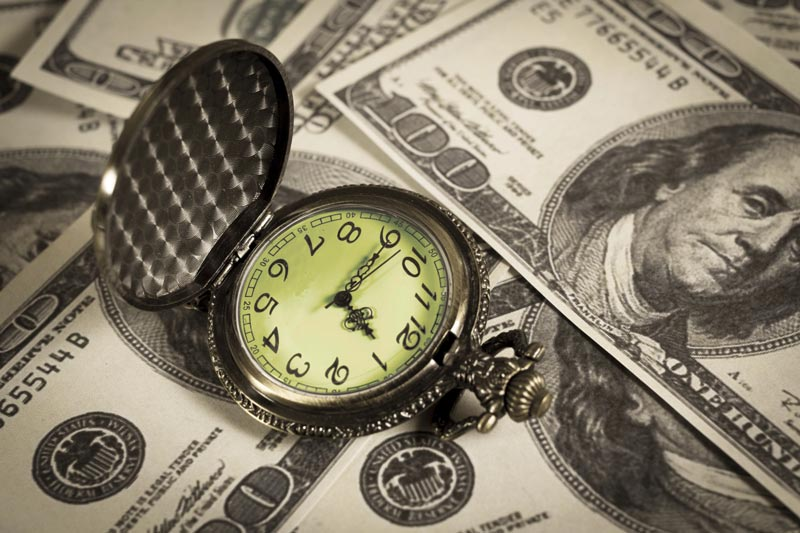 Pocket watch on money, Buyers Guide saves you time and money