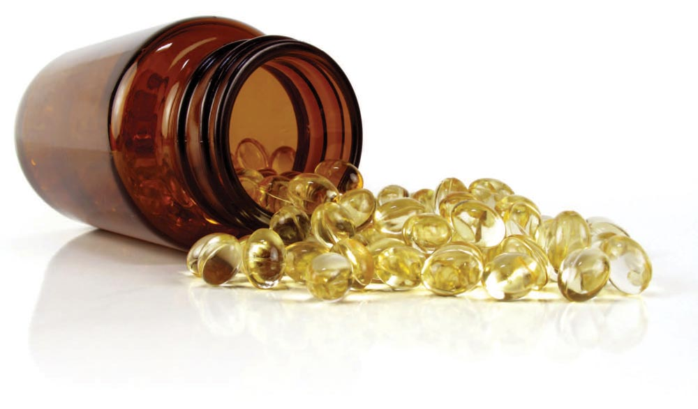 Supplements spilling out of bottle, vitamin D dosing