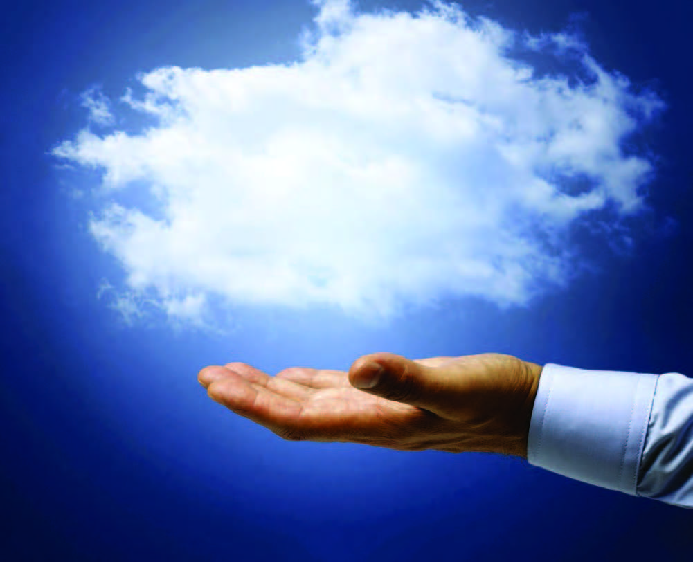 Hand under fluffy cloud: web-based EHR system